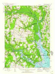 Moyock, Virginia 1939 (1959) USGS Old Topo Map 15x15 Quad