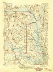 Moyock, Virginia 1946 (1946a) USGS Old Topo Map 15x15 Quad