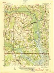 Moyock, Virginia 1946 (1946b) USGS Old Topo Map 15x15 Quad
