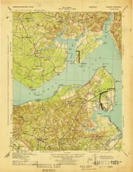 Nanjemoy, Virginia 1944 (1944) USGS Old Topo Map 15x15 Quad