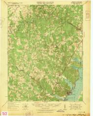 Quantico, Virginia 1927 (1927) USGS Old Topo Map 15x15 Quad