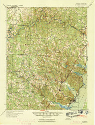 Quantico, Virginia 1940 (1940) USGS Old Topo Map 15x15 Quad
