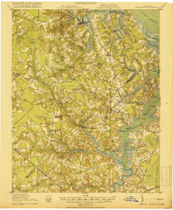 Smithfield, Virginia 1919 (1919) USGS Old Topo Map 15x15 Quad