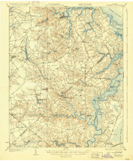 Smithfield, Virginia 1919 (1929) USGS Old Topo Map 15x15 Quad