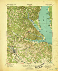 Stafford, Virginia 1931 (1931) USGS Old Topo Map 15x15 Quad