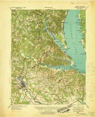 Stafford, Virginia 1931 (1931) USGS Old Topo Map 15x15 Quad