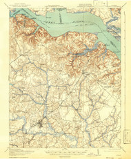 Surry, Virginia 1919 (1942) USGS Old Topo Map 15x15 Quad
