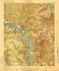 Toano, Virginia 1918 (1918) USGS Old Topo Map 15x15 Quad