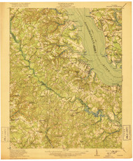Urbanna, Virginia 1917 (1917) USGS Old Topo Map 15x15 Quad