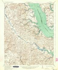 Urbanna, Virginia 1917 (1934) USGS Old Topo Map 15x15 Quad