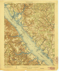 Williamsburg, Virginia 1906 (1906) USGS Old Topo Map 15x15 Quad