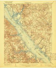 Williamsburg, Virginia 1906 (1917) USGS Old Topo Map 15x15 Quad