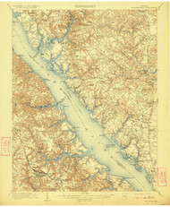 Williamsburg, Virginia 1906 (1922) USGS Old Topo Map 15x15 Quad