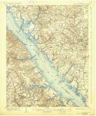 Williamsburg, Virginia 1906 (1931) USGS Old Topo Map 15x15 Quad