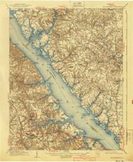 Williamsburg, Virginia 1906 (1940) USGS Old Topo Map 15x15 Quad
