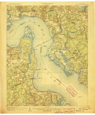 Yorktown, Virginia 1907 (1907) USGS Old Topo Map 15x15 Quad