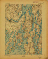 Bath, Maine 1894 (1894) USGS Old Topo Map 15x15 Quad