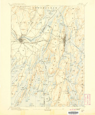 Bath, Maine 1894 (1907) USGS Old Topo Map 15x15 Quad