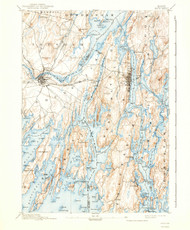Bath, Maine 1894 (1940) USGS Old Topo Map 15x15 Quad