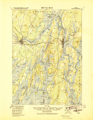 Bath, Maine 1920 a (1920 a) USGS Old Topo Map 15x15 Quad