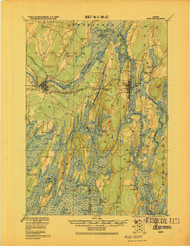Bath, Maine 1920 b (1920 b) USGS Old Topo Map 15x15 Quad