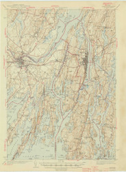 Bath, Maine 1945 (1945) USGS Old Topo Map 15x15 Quad