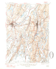 Bath, Maine 1945 (1947) USGS Old Topo Map 15x15 Quad