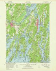 Bath, Maine 1957 (1960) USGS Old Topo Map 15x15 Quad
