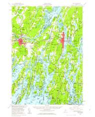 Bath, Maine 1957 (1963) USGS Old Topo Map 15x15 Quad