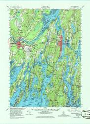 Bath, Maine 1957 (1986) USGS Old Topo Map 15x15 Quad