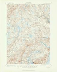 Belfast, Maine 1915 (1962) USGS Old Topo Map 15x15 Quad