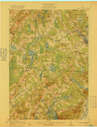 Belfast, Maine 1917 a (1917 a) USGS Old Topo Map 15x15 Quad