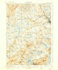 Belfast, Maine 1917 (1938) USGS Old Topo Map 15x15 Quad