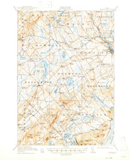 Belfast, Maine 1917 (1947) USGS Old Topo Map 15x15 Quad