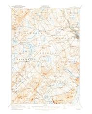 Belfast, Maine 1917 (1957) USGS Old Topo Map 15x15 Quad