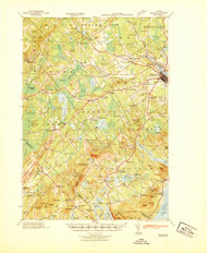 Belfast, Maine 1941 (1941) USGS Old Topo Map 15x15 Quad