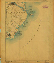 Biddeford, Maine 1891 (1891) USGS Old Topo Map 15x15 Quad