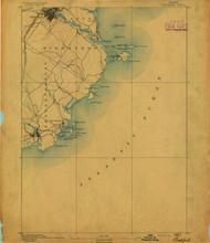 Biddeford, Maine 1891 (1891) USGS Old Topo Map 15x15 Quad