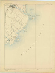 Biddeford, Maine 1893 (1893) USGS Old Topo Map 15x15 Quad