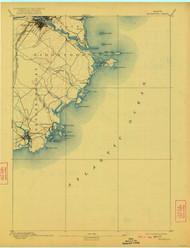Biddeford, Maine 1893 (1922) USGS Old Topo Map 15x15 Quad
