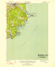 Biddeford, Maine 1941 (1941) USGS Old Topo Map 15x15 Quad