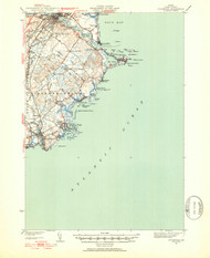 Biddeford, Maine 1941 (1952) USGS Old Topo Map 15x15 Quad