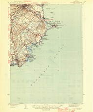 Biddeford, Maine 1944 a (1944 a) USGS Old Topo Map 15x15 Quad