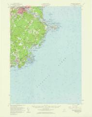 Biddeford, Maine 1956 (1960 a) USGS Old Topo Map 15x15 Quad
