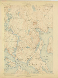 Bluehill, Maine 1904 (1904) USGS Old Topo Map 15x15 Quad