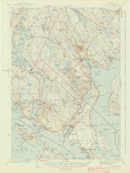 Bluehill, Maine 1944 a (1944 a) USGS Old Topo Map 15x15 Quad