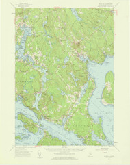 Bluehill, Maine 1957 (1959) USGS Old Topo Map 15x15 Quad