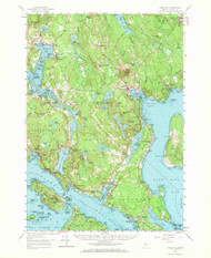 Bluehill, Maine 1957 (1971) USGS Old Topo Map 15x15 Quad