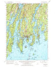 Boothbay, Maine 1957 (1972) USGS Old Topo Map 15x15 Quad