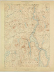 Bucksport, Maine 1900 (1900) USGS Old Topo Map 15x15 Quad